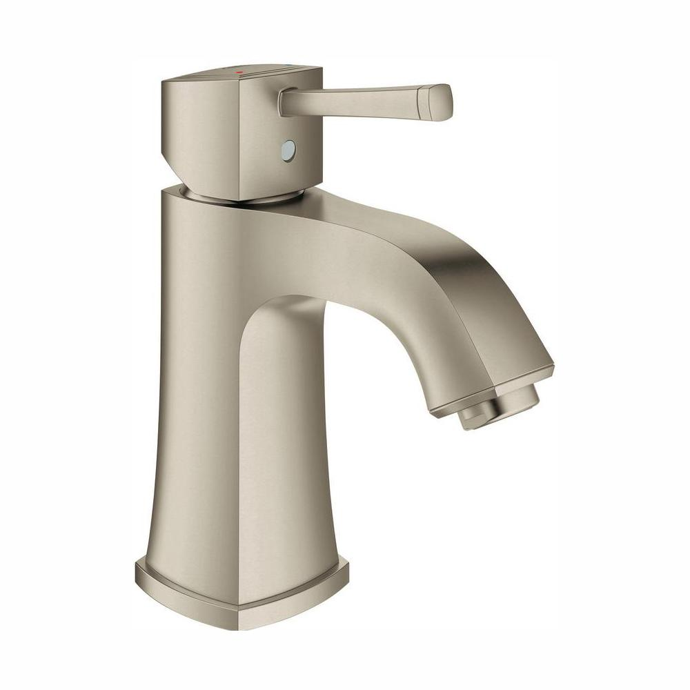 GROHE Grandera Single Hole Single-Handle Bathroom Faucet in Brushed Nickel InfinityFinish