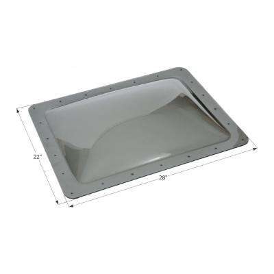 Standard RV 18 in. x 24 in. x 4 in. Skylight
