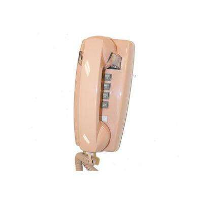 Wall Corded Telephone with Volume Control - Beige