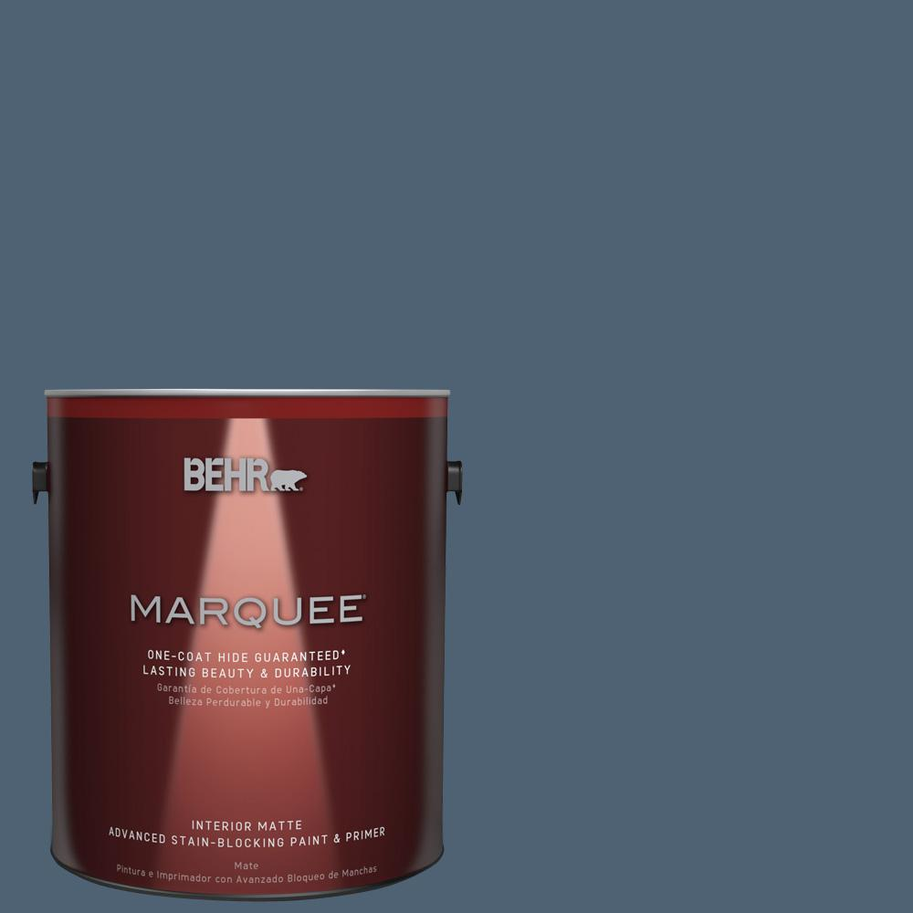BEHR MARQUEE 1 gal. #T17-17 Midnight Show Matte Interior Paint and Primer in One