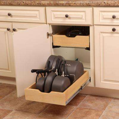 7.5 in. x 15.3 in. x 12 in. Pot and Pan Cabinet Organizer