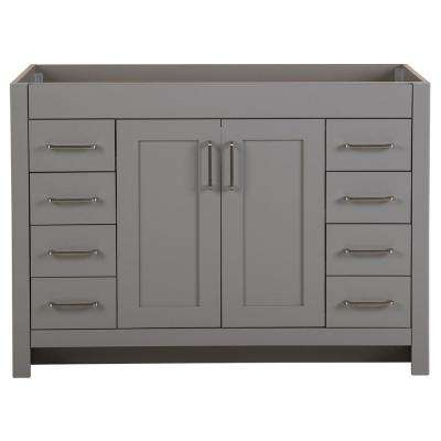 Westcourt 48 in. W x 21.69 in. D x 34.25 in. H Bath Vanity Cabinet Only in Sterling Gray