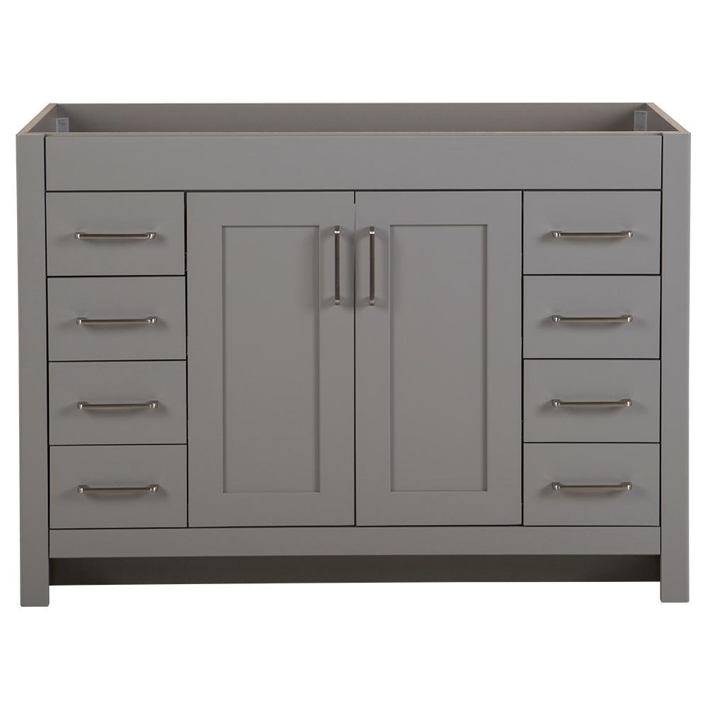 Westcourt 48 in. W x 21 in. D x 34 in. H Bath Vanity Cabinet Only in Sterling Gray