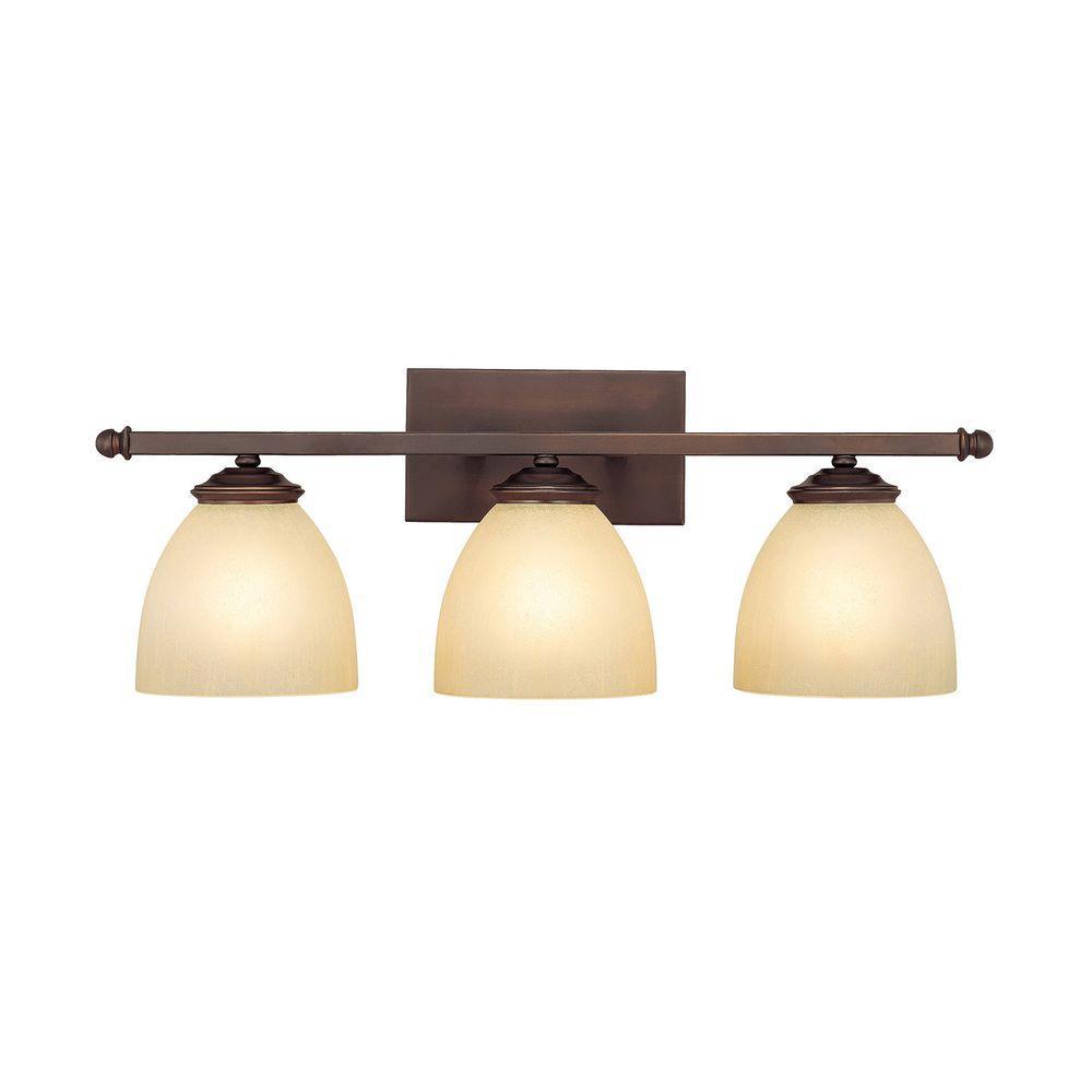 Filament Design Johnson 3-Light Burnished Bronze Incandescent Bath Vanity Light