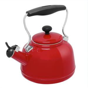 Click here to buy Chantal Vintage 6.8-cups Enamel-On-Steel Chili Red Tea Kettle by Chantal.