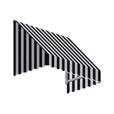 7.38 ft. Wide San Francisco Window/Entry Awning (16 in. H x 30 in. D) Black/White