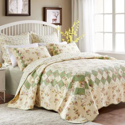 Bliss Ivory 3-Piece King Quilt Set