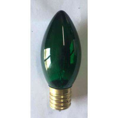 C9 Green Incandescent Bulb (Pack of 25)