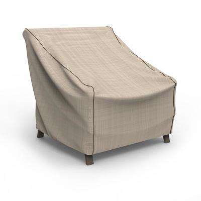 NeverWet Mojave Large Black Ivory Patio Chair Cover