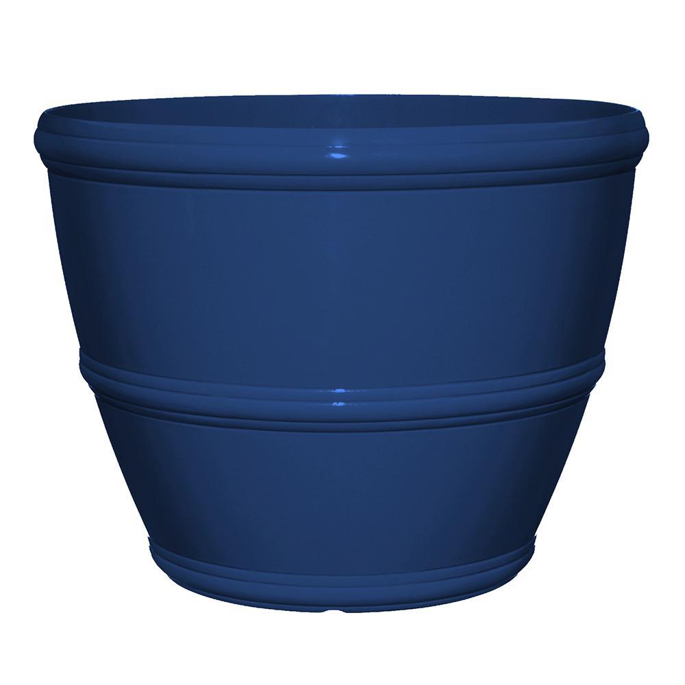 Alton 16 in. Mariner Blue Resin Planter