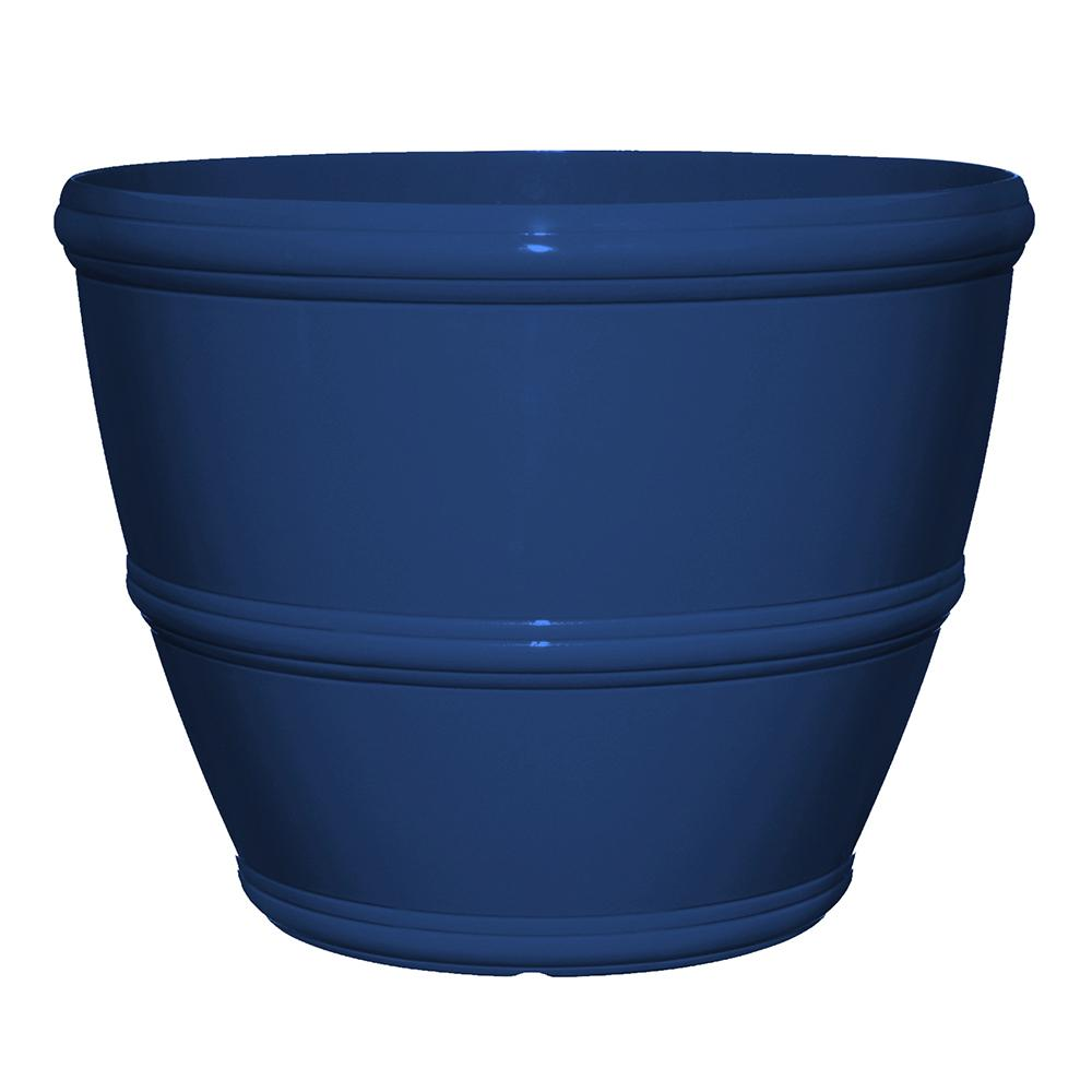 Alton 16 in. Mariner Blue Resin Planter
