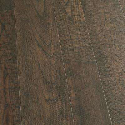 Take Home Sample - Hickory Carmel Tongue and Groove Engineered Hardwood Flooring - 5 in. x 7 in.