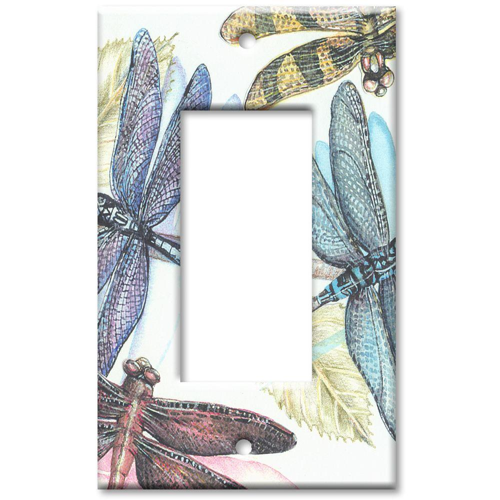 Art Plates Dragonflies Rocker Wall Plate