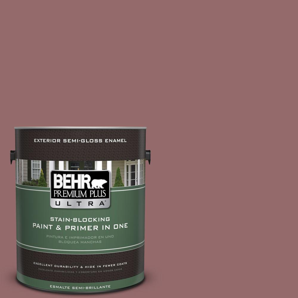 1-gal. #140F-5 Clay Ridge Semi-Gloss Enamel Exterior Paint