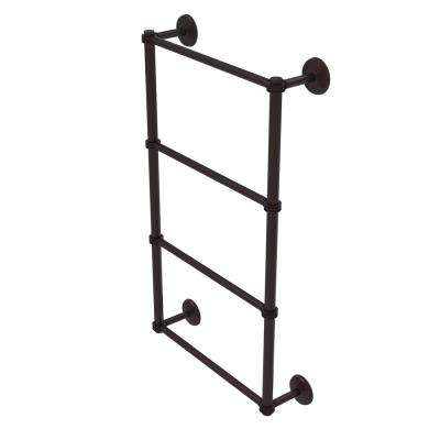 Monte Carlo Collection 4-Tier 24 in. Ladder Towel Bar with Dotted Detail in Antique Bronze