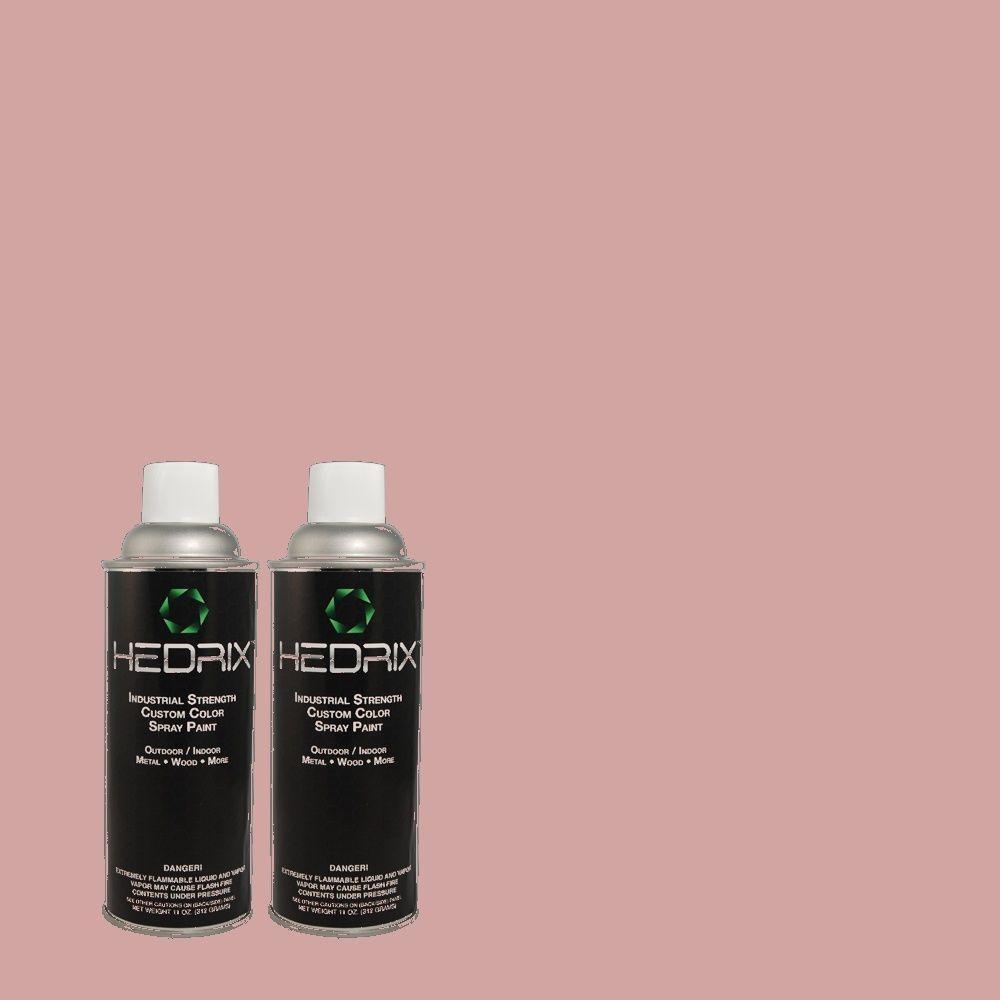 Hedrix 11 oz. Match of RAH-84 New Raspberry Low Lustre Custom Spray Paint (2-Pack)