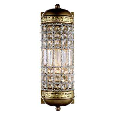 Olivia 1-Light French Gold Royal Cut Crystal Wall Sconce