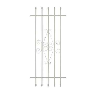 24 in. x 54 in. Spear Point 5-Bar Security Bar Window Guard, White