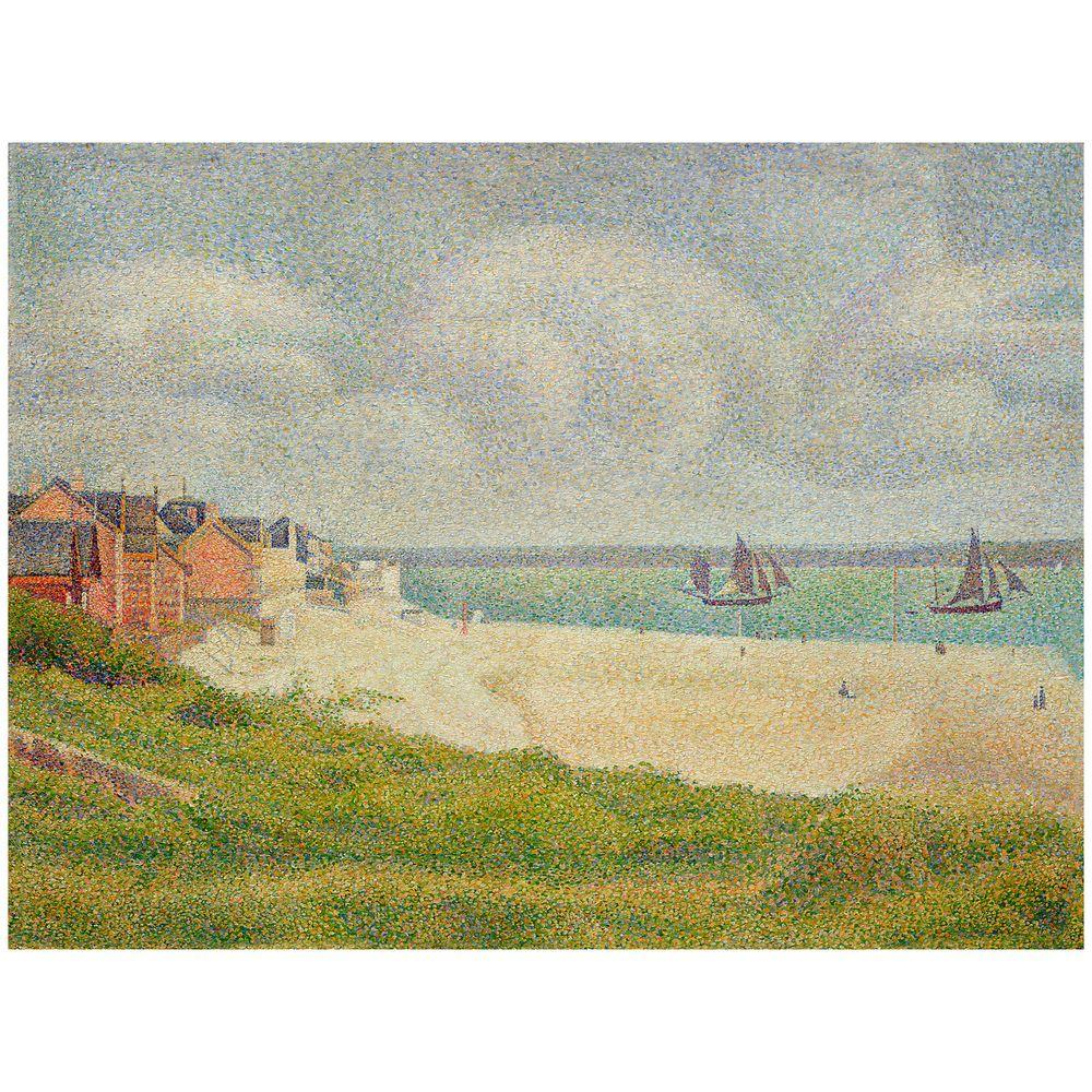 Trademark Fine Art 26 in. x 32 in. Le Croty Looking Upstream 1889 Canvas Art