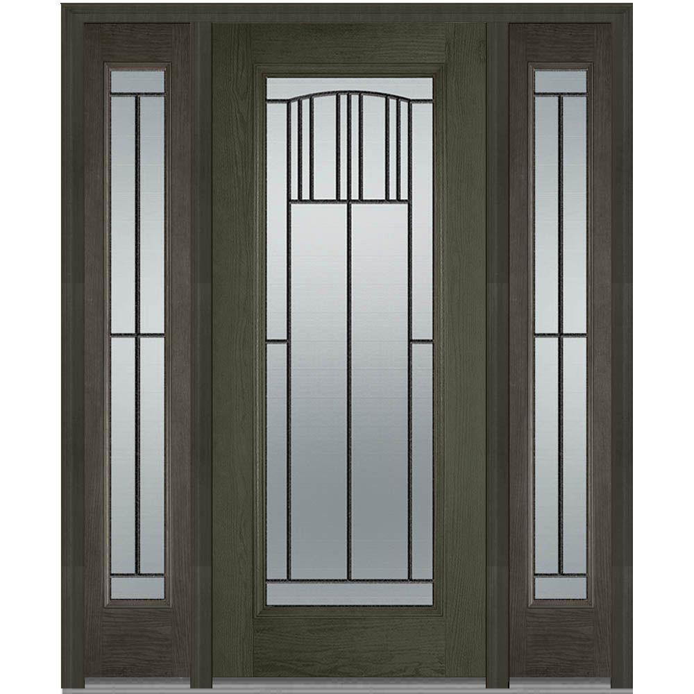 Wrought Iron Doors With Glass Fiberglass Doors The Home Depot
