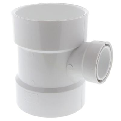 4 In X 4 In X 2 In Pvc Dwv All Hub Sanitary Tee C4811hd442 The Home Depot