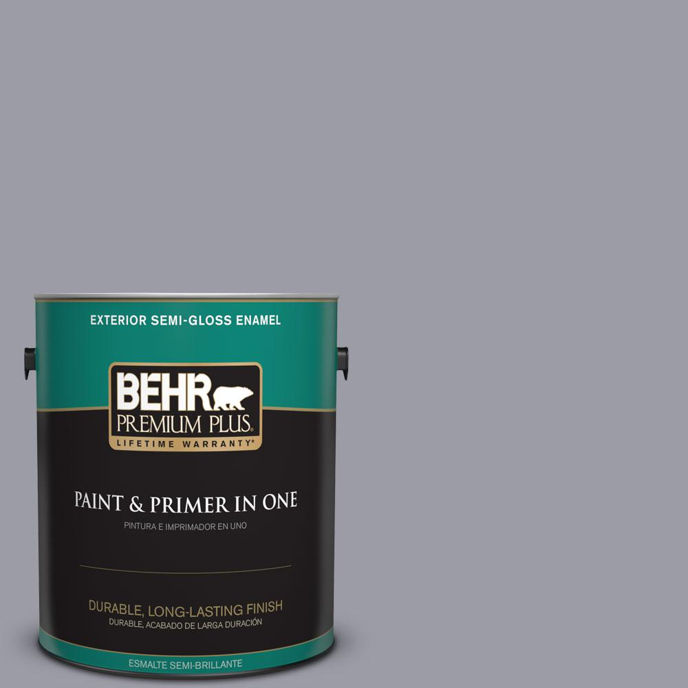 1-gal. #BNC-09 Heather Gray Semi-Gloss Enamel Exterior Paint