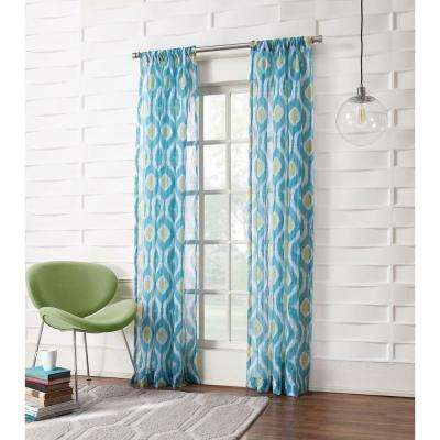 No. 918 Millennial Marvin Ikat Crushed Sheer Curtain Panel