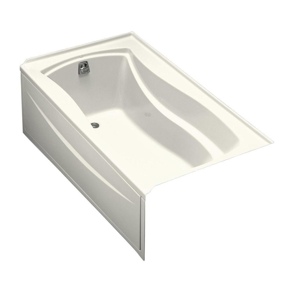 Left Hand Drain With Integral Tile Flange Rectangular Alcove Bathtub