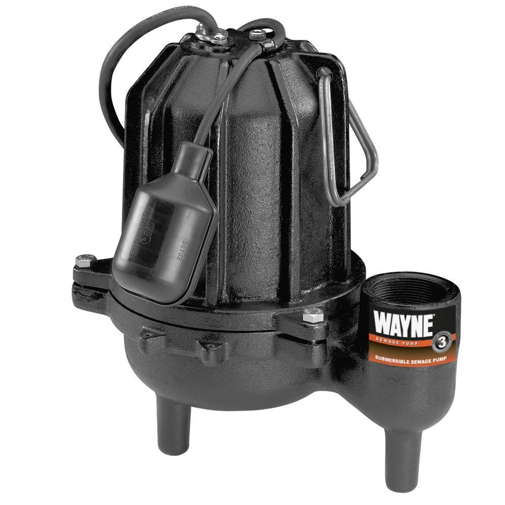 Wayne 1/2 HP Cast Iron Sewage Pump-DISCONTINUED
