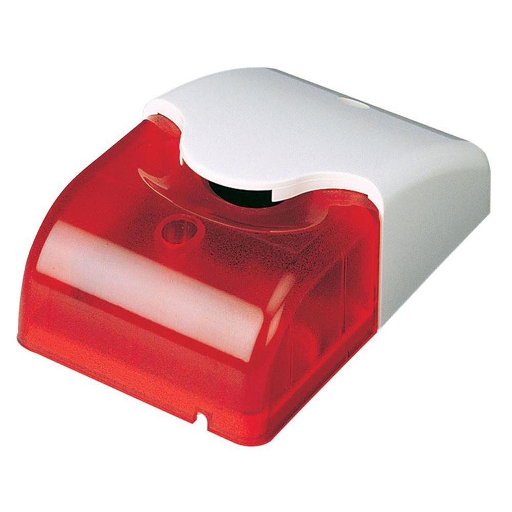 Wired Mini Strobe Motion Alarm with Red LED Light (DC12V)