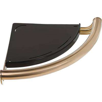 Decor Assist Contemporary Corner Shelf with 8-3/4 in. Assist Bar in Champagne Bronze