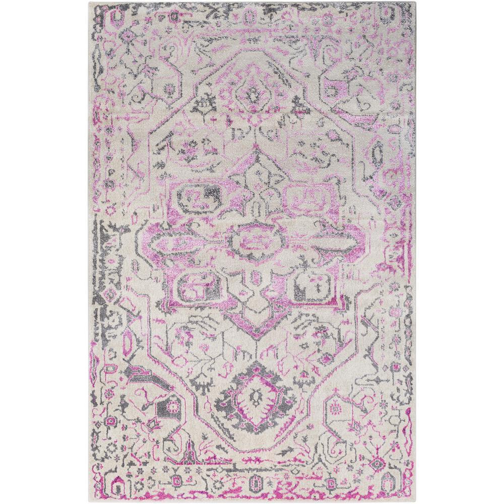Halberton Bright Pink 5 ft. x 7 ft. Area Rug