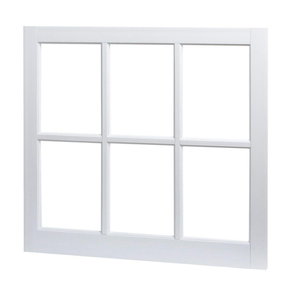Tafco Windows 31 In X 29 Utility Fixed Picture Vinyl Window With Grid