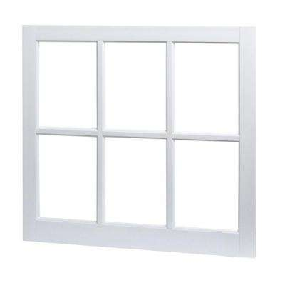 31 in. x 29 in. Utility Fixed Picture Vinyl Window with Grid - White