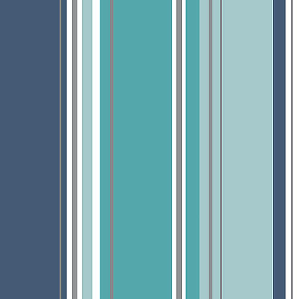 Coloroll 564 Sq Ft Energy Blue Striped Wallpaper M1315 The Home