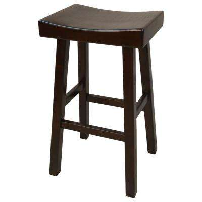 Colborn 30 in. Espresso Thick Saddle Seat Stool