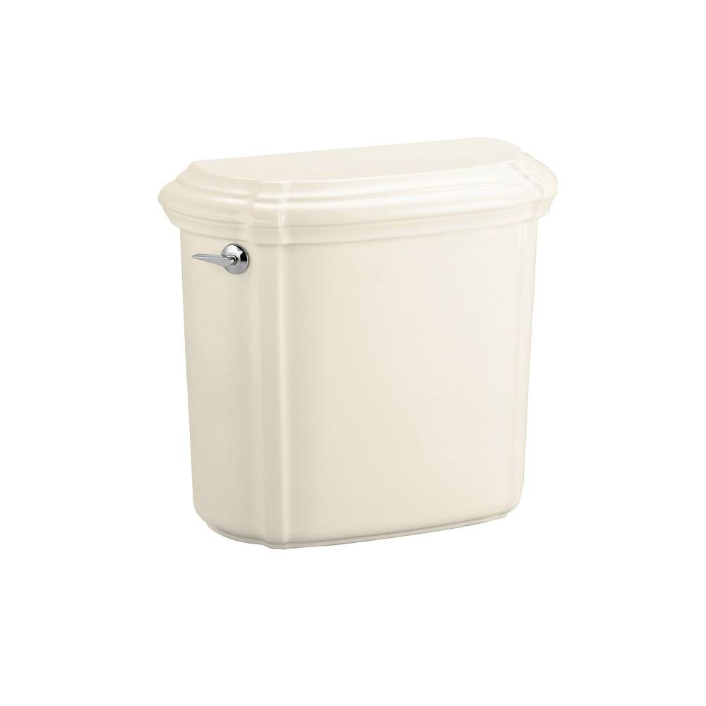 Portrait 1.6 GPF Single Flush Toilet Tank Only in Almond