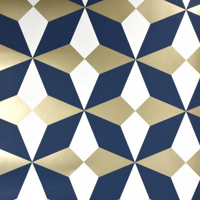 Newby Navy Geometric Wallpaper
