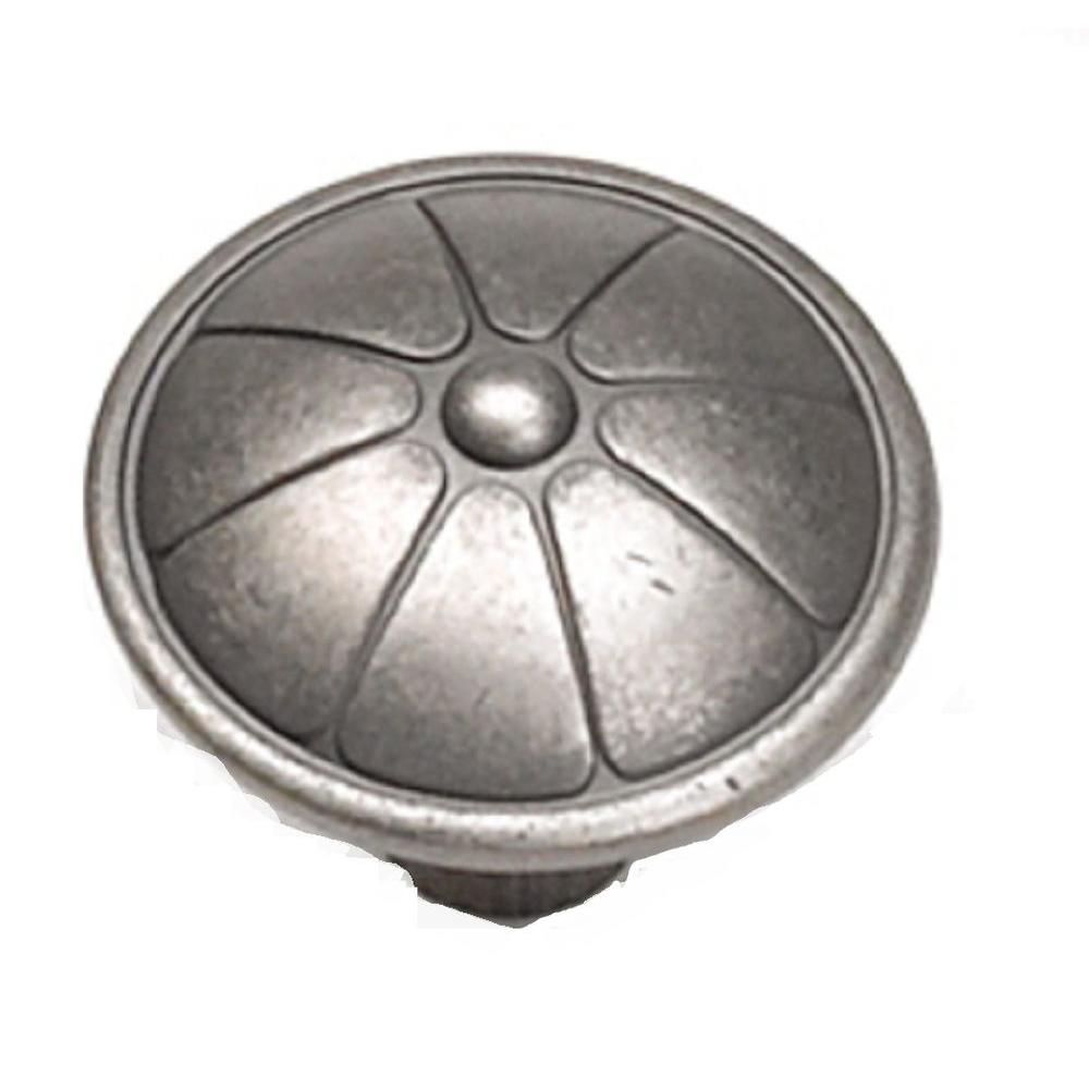 1-1/2 in. Antique Pewter Cabinet Knob