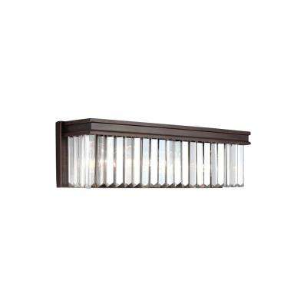 Carondelet 3-Light Burnt Sienna Bath Light with LED Bulbs
