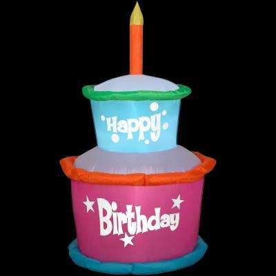 2 ft. W x 4 ft. H Inflatable Birthday Cake with Candles