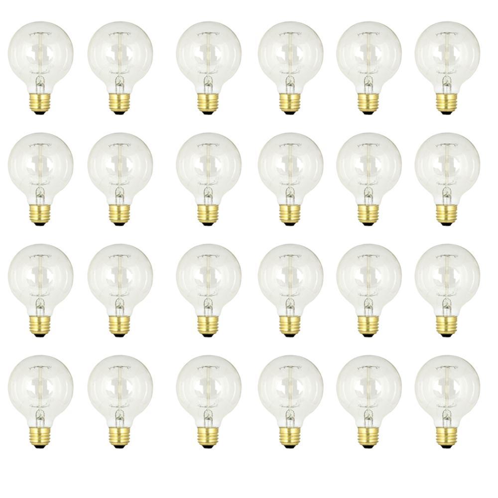 60-Watt Soft White (2200K) G25 Dimmable Incandescent Original Vintage Style Light Bulb (Case of 24)