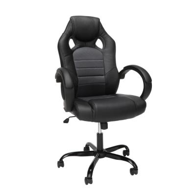 Essentials Collection High-Back Gaming Chair, Padded Loop Arms, in Gray (ESS-3083HB-GRY)