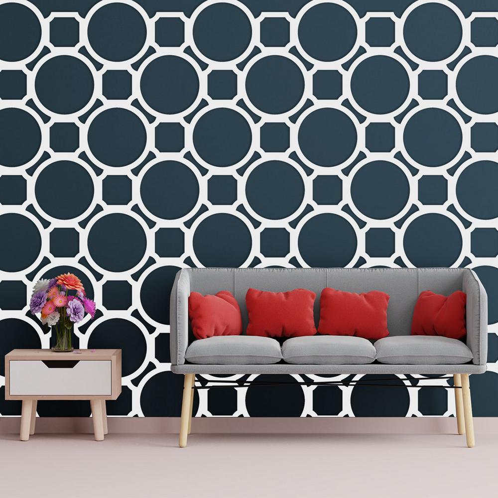Ekena Millwork 3/8 in. x 25-5/8 in. x 15-3/4 in. Medium Hemingway White Architectural Grade PVC Decorative Wall Panels