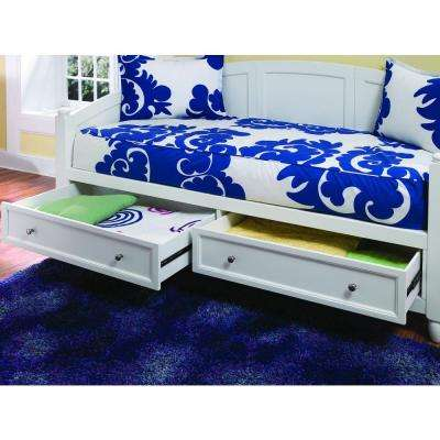 Naples White Storage Day Bed