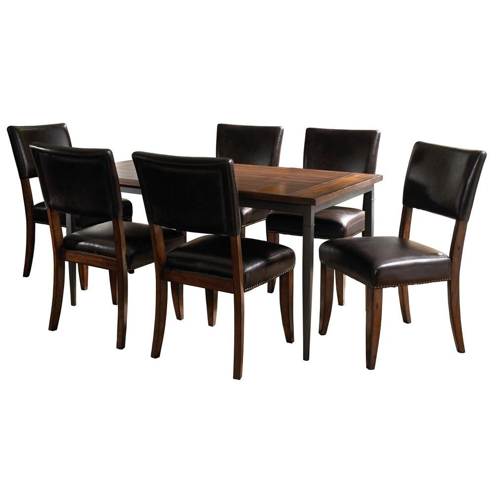 Hillsdale Furniture Cameron 7-Piece Rectangle Dining Set with Parson Chair