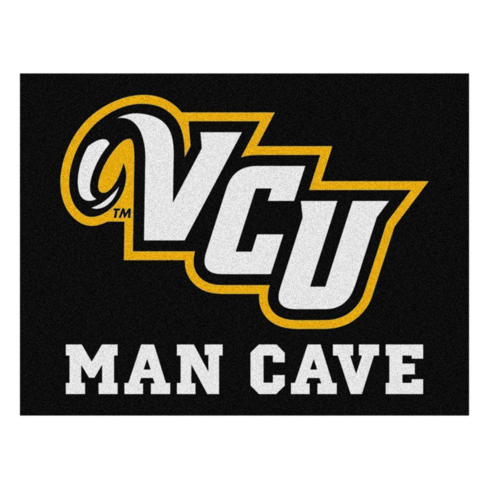 NCAA Virginia Commonwealth University Black Man Cave 3 ft. x 4 ft. Area Rug