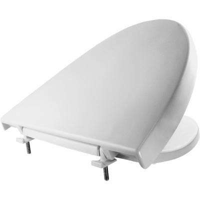 Elongated Closed Front Toilet Seat in White