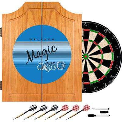 20.5 in. Orlando Magic Hardwood Classics NBA Wood Dart Cabinet Set