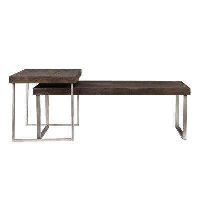 Davis Burnt Oak End Table (Set of 2)